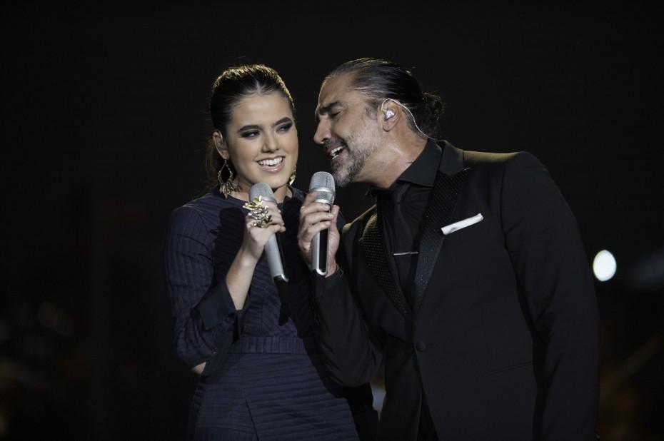 Alejandro Fernández y su hija Camila