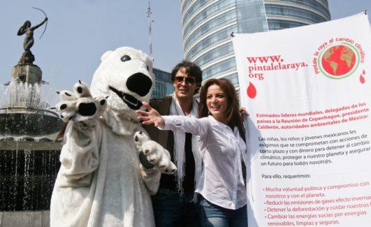 Silvia Navarro en campaña contra el cambio climático