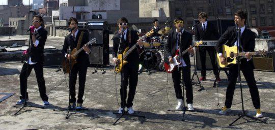 """Galería de fotos de la grabación del videoclip """"Ya te conseguí"""" de los Klásicos y Básikos"""