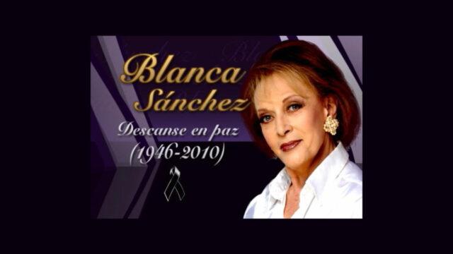 Fallece la actriz Blanca Sánchez