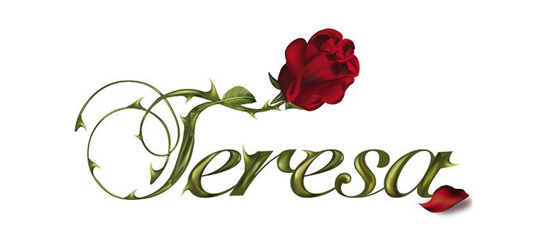 el logo de la telenovela teresa noti novelas