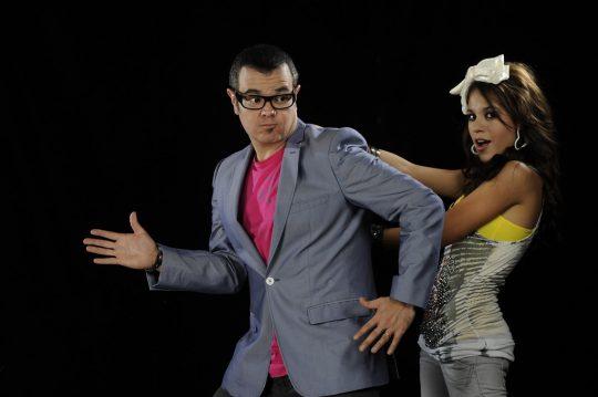 Danna Paola, Cristian de la Fuente y Danna García en Toy Story 3