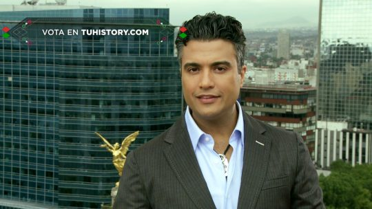Jaime Camil en el programa El gran mexicano del canal History