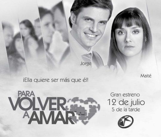 Poster de la telenovela Para volver a amar: Mark Tacher y Sophie Alexander