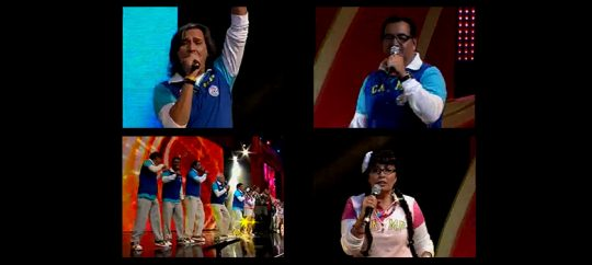 Productores de Televisa cantan Un mundo de caramelo