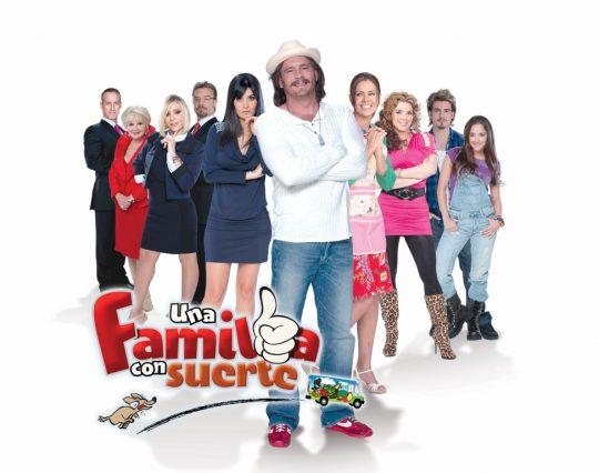 Primer promocional telenovela Una familia con suerte