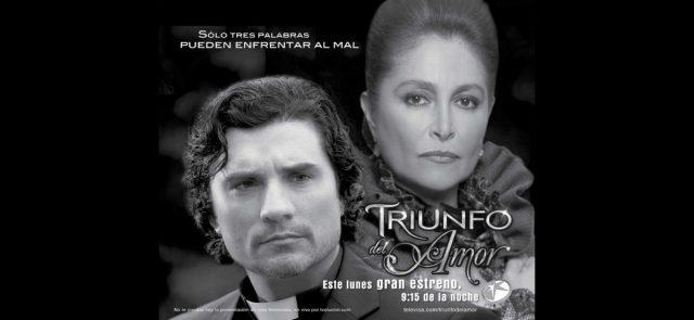 Poster Triunfo del amor: Daniela Romo y Diego Olivera