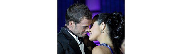 Maite Perroni y William Levy en la presentación de Triunfo del amor