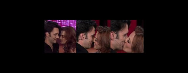 Beso entre Silvia Navarro y Leonardo de Lozanne en Miembros al aire